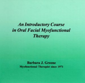 myofunctional therapy course cover